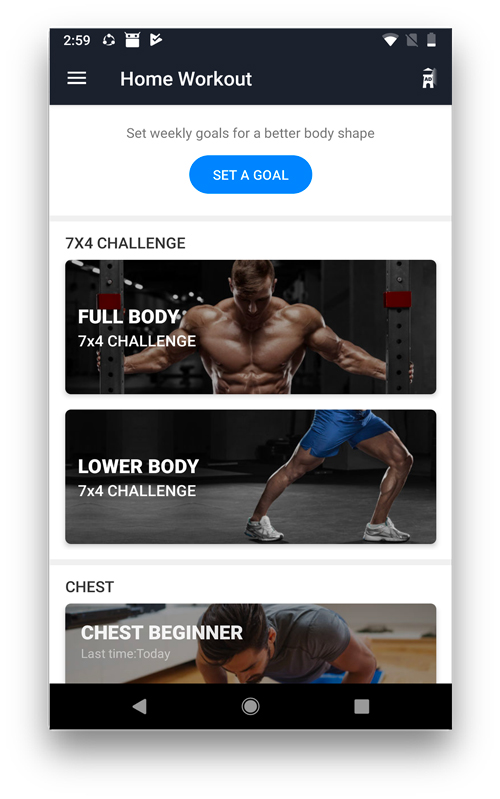 Home Workout - workout apps for android and ios