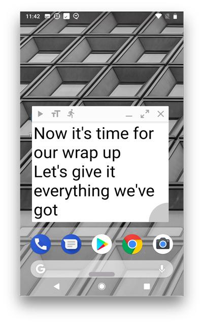 oratory widget