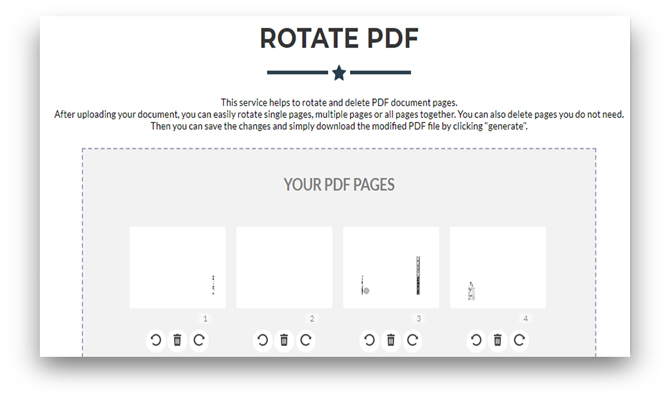 how to rotate pdf and save changes online