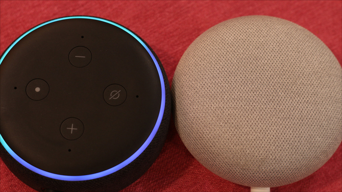 echo dot 3 v google home mini- alexa lit
