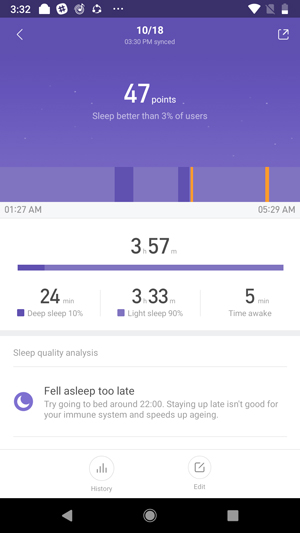 mi band 3 v mi band 2- sleep track mi band 3