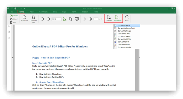 iskysoft editor pdf