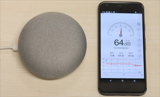 echo dot 3 v google home mini- 64dB on Home mini