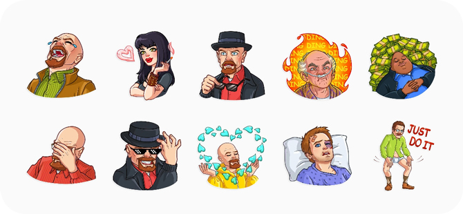 best sticker app for whatsapp- breaking bad
