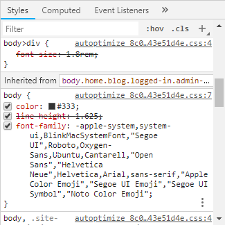 click on the color block in chrome inspect tool