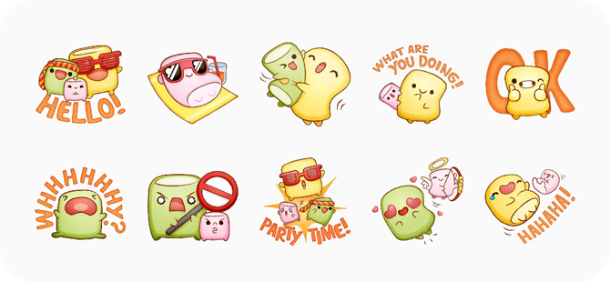 best stickers for whatsapp- marshmallow