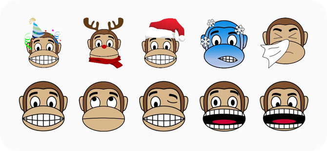best stickers for whatsapp- monkey