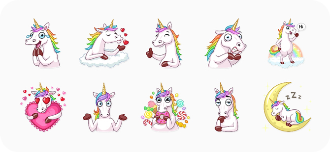 best sticker app for whatsapp- unicorn
