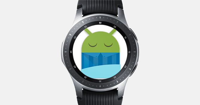 Screenshot of the Galaxy Watch with sleep as android