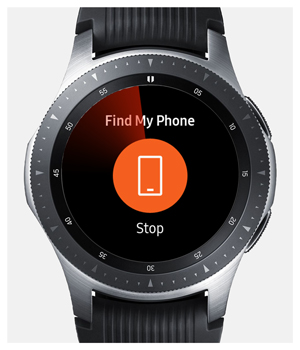fine my phone on galaxy watch connected to iPhone