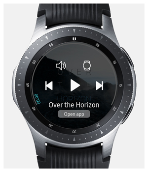 music control on galaxy watch connected to iPhone
