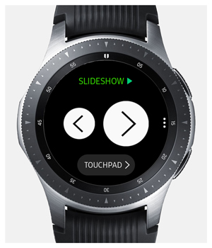 slideshow on galaxy watch connected to iPhone