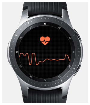 heart rate on galaxy watch connected to iPhone