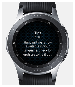 notification from galaxy watch connected to iPhone