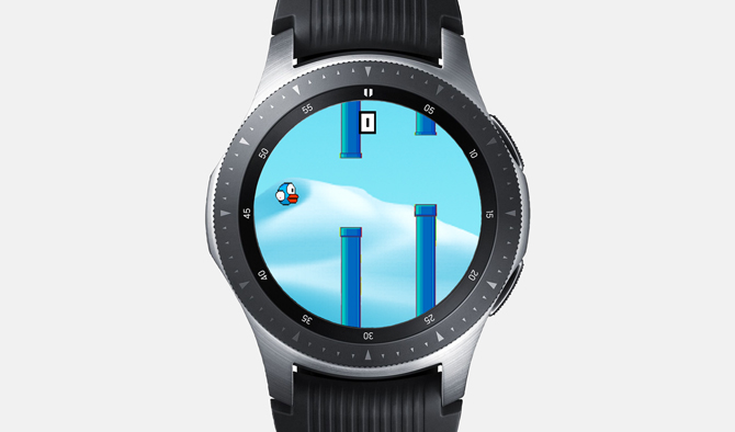 Best Galaxy Watch Games- Flying Bird