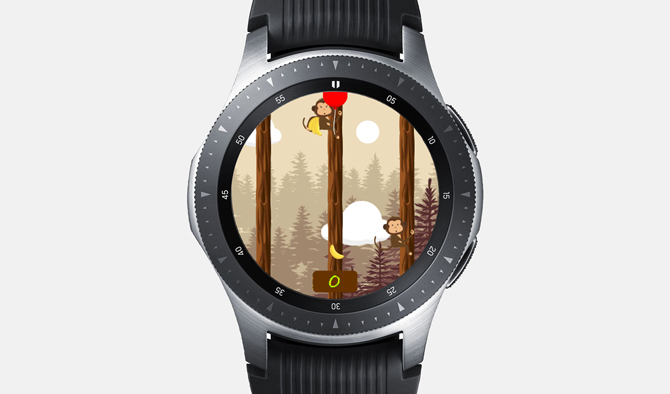 Best Galaxy Watch Games- Hungry Monkey