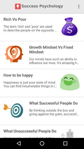 self help app - 03 - Success Psychology