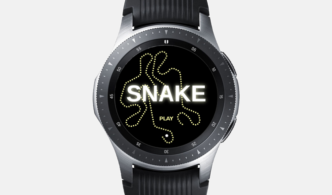 Best Galaxy Watch Games- Snake Circle