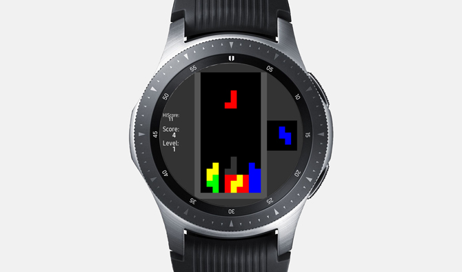 Best Galaxy Watch Games- Tetris S2