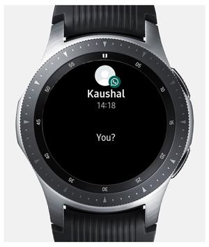 whatsapp from galaxy watch