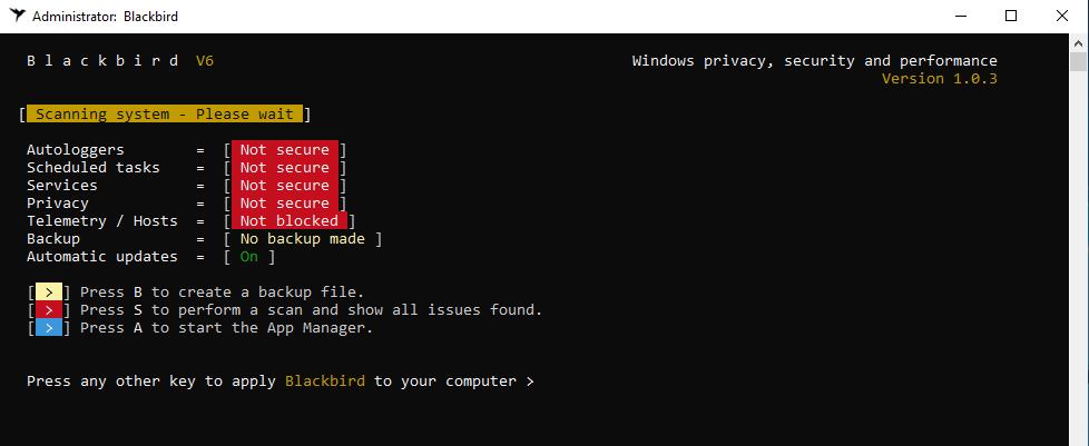 06 - windows 10 privacy tool - Blackbird