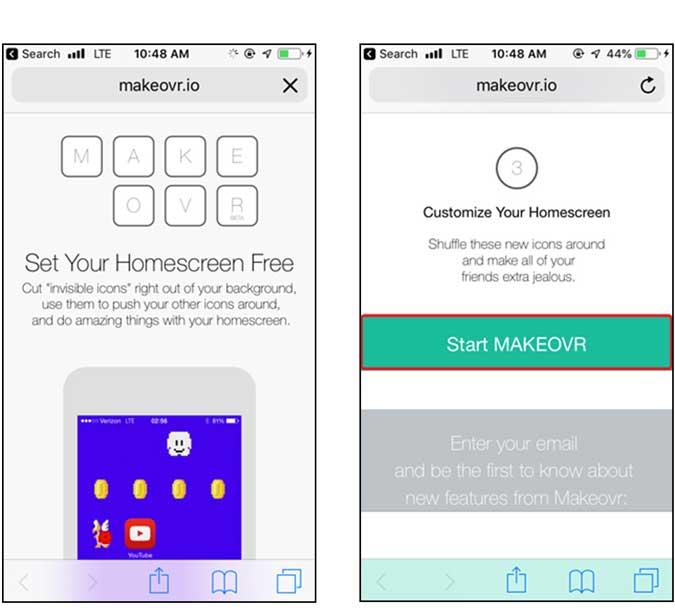 use makeovr app on iphone