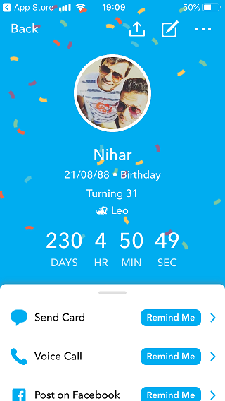 Birthday Reminder Apps 4
