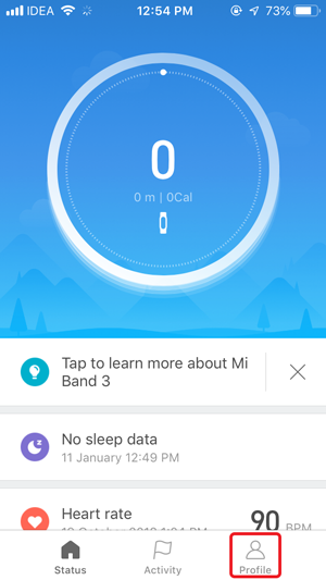disable auto heart rate monitor- mifit