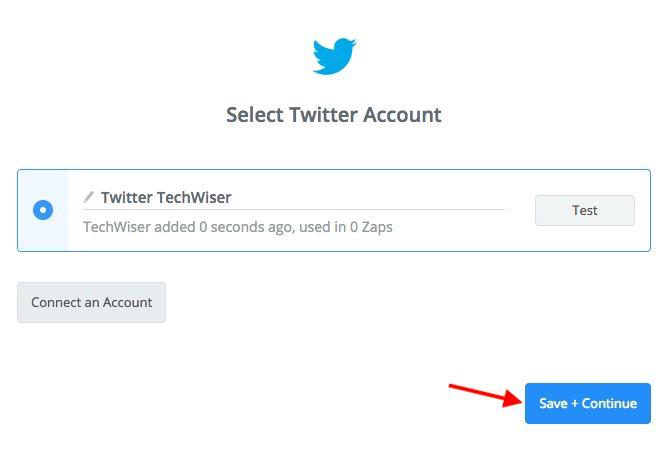 Twitter credentials