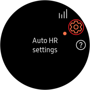 disable auto heart rate monitor- Auto HR settings