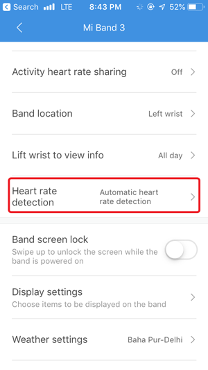 disable auto heart rate monitor- automatic heart rate