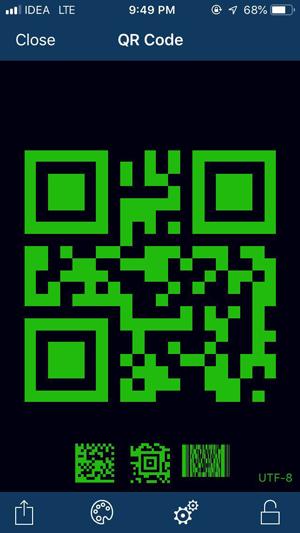 Offline QR code generator- iOS