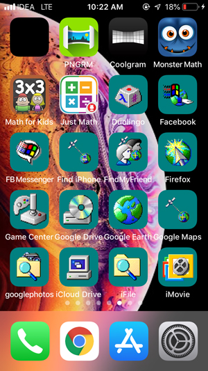 customize home screen on iPhone- iskin