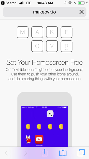customize home screen on iPhone-
