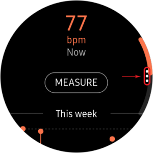 disable auto heart rate monitor- options icon