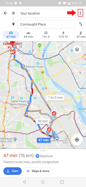 How to Predict Traffic on Google Maps for Android | TechWiser Does Google Maps Show Traffic on