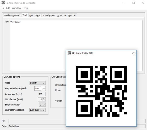 Offline QR code generator- Portable