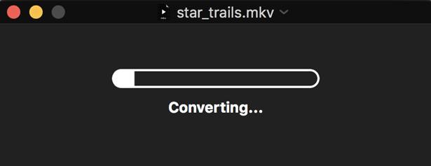 perian converting the mkv file to mp4