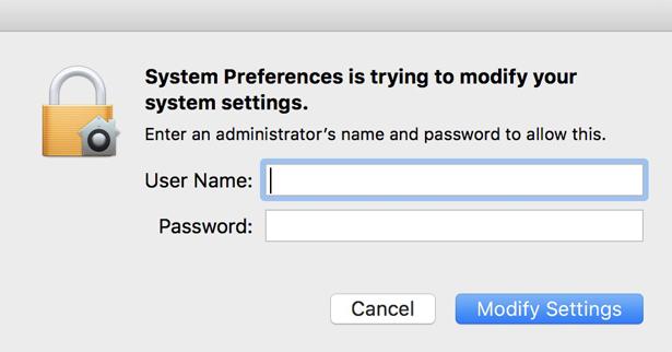 enter mac credentials