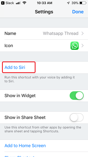send whatsapp without saving contacts- add to siri