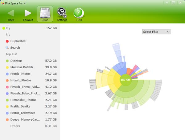 DiskSpaceFan4_new - Disk Space Analyzer For Windows