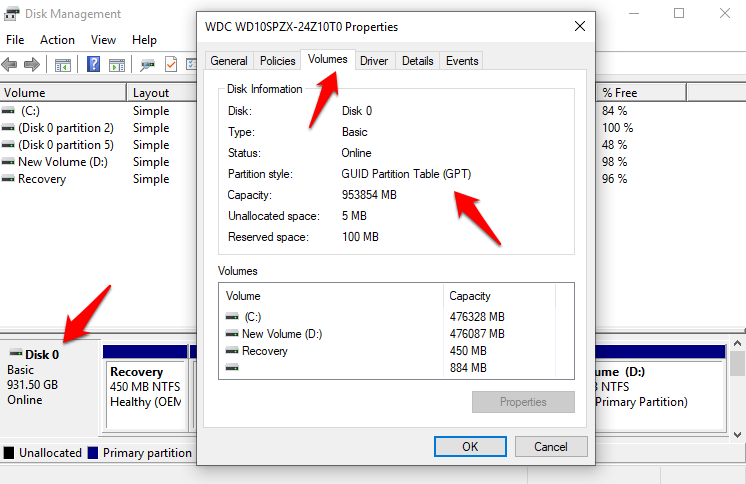 How To Check GPT Or MBR in Windows 10 And Convert Them | TechWiser