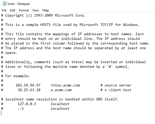 fix dns server not responding 03 - hosts file