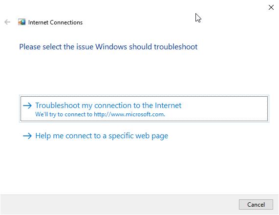 fix dns server not responding 06 - troubleshooter running