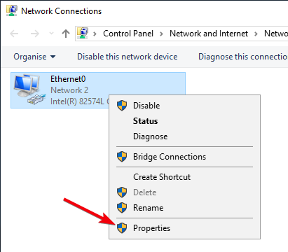 fix dns server not responding 15 - select network properties