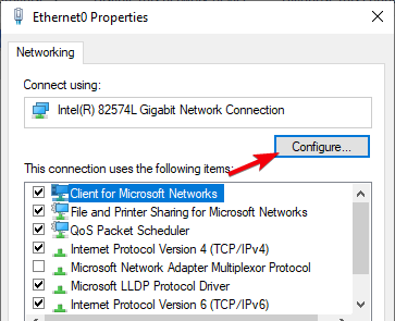 fix dns server not responding 16 - click configure button