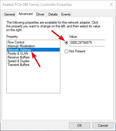 fix dns server not responding 17 - paste mac address