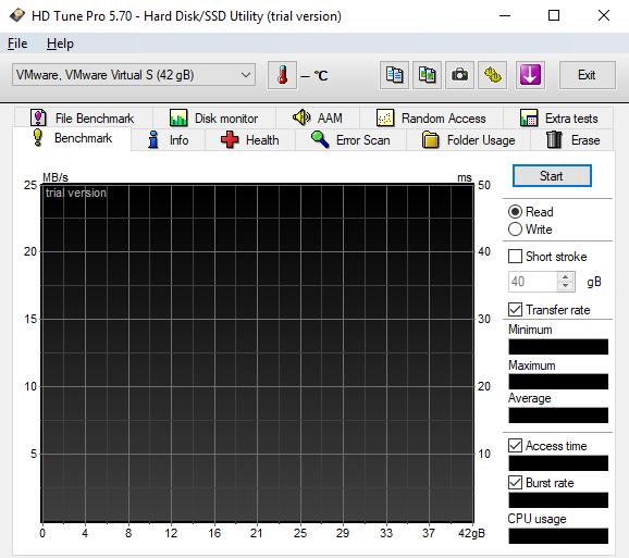 hard disk testing tool - hd tune