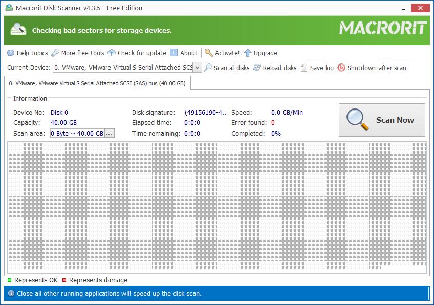 hard disk testing tool - macrorit