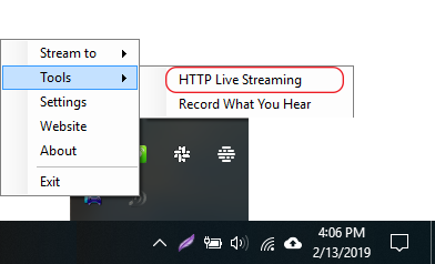 Stream Audio from PC to Android